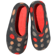 Big Dots Felt Slippers