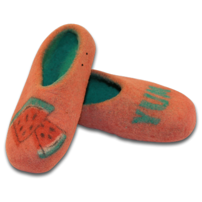 Watermelon Design Felt Slippers