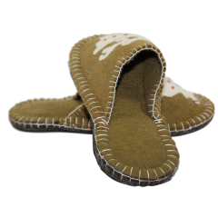 Elk Design Felt Slippers