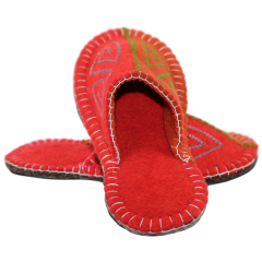 Geometric Felt Slippers