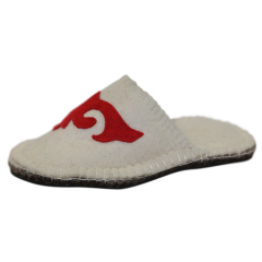 Red Hawk Felt Slippers